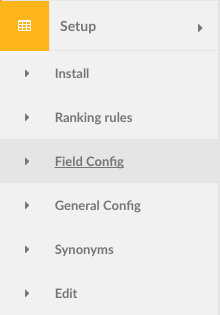 Field config navigation